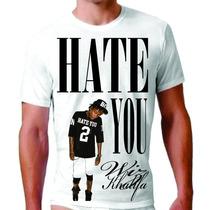 Camisa Camiseta Personalizada Wiz Khalifa Swag Rap Tshirt Pl