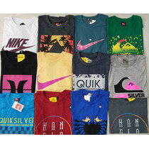 Camisetas De Surf Masculina Kit Atacado 10 Peças
