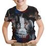 Camiseta Infantil Filme Civil War Marvel Capitão América