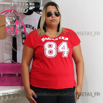 Plus Size Camiseta T-shirt Numero Bata Regata Tamanho Grande