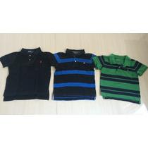 Lote 3 Camisetas Gap Ralph Lauren Menino 3 Anos