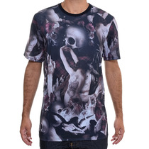 Camiseta Masculina Mcd Especial Caveira E Rosa