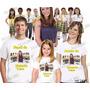 Camiseta Carrosel Personalizada Aniversário Kit Com 3