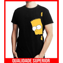 Camiseta Personalizada Bart Simpsons Engraçadas