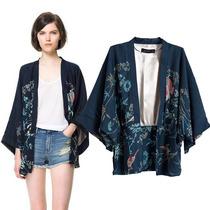 Kimono Boho Cardigan Blazer Estampa Fênix Pronta Entrega