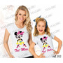 Camiseta Baby Look Tal Mãe Tal Filha Minnie Nerd Kit Com 2