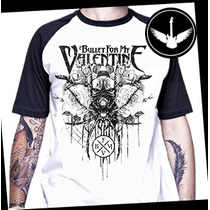 Camiseta Bullet For My Valentine Raglan Baby Look Banda Rock