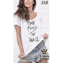 Camiseta T-shirt Pink Floyd Fashion Feminino Blusa Baby Look