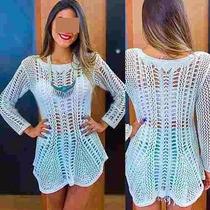 Mini Vestido Blusa Tricot Arrastão,trico Direto Fábrica 2016