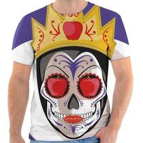 Camiseta Caveira Mexicana Rainha Má Personalizada