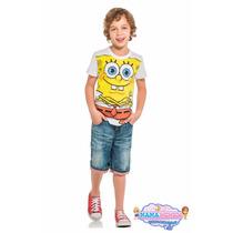 Camiseta Infantil Bob Esponja A Febre Do Momento Lançamento