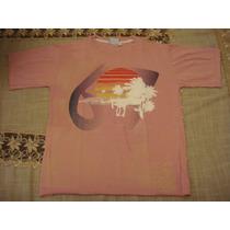Blusa Camiseta Rosa Infantil Criança Tam. 8 Anos