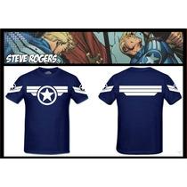 Camisa Capitão America Steve Rogers Soldado Ironman
