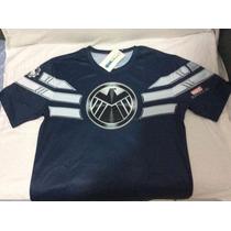 Camisa Capitão América Vingadores Azul Pronta Entrega