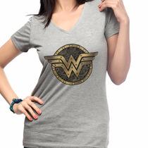 Camisetas Mulher Maravilha Herois Dc Comics Camisa Geek