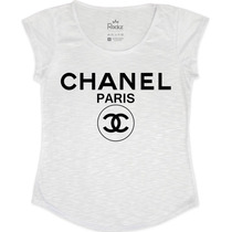 T-shirt Feminina Chanel Paris - Fr Fashion
