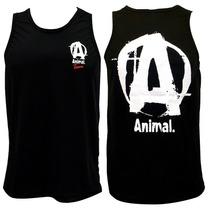 Camiseta Regata Dry Fit Animal Preta - Universal Nutrition