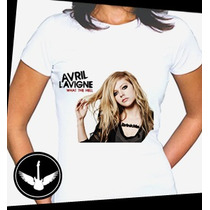 Camiseta Avril Lavigne Baby Look Blusa Regata Banda Rock