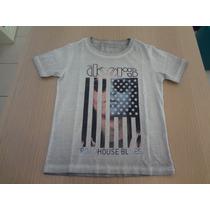 Camiseta Ellus Kids The Rolling Stones - Cinza.