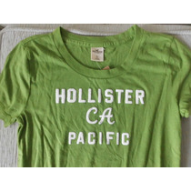 Camiseta Feminina Manga Curta Hollister Original Tam P