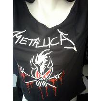 Camiseta Blusinha Ombro Caído - Metallica - Profanus