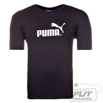 Camiseta Puma Large Logo Pa Preta - Futfanatics