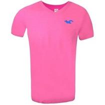 Camiseta Gola V Hollister Original Cod 0042