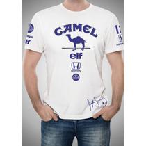 Camisa F1 Lotus Camel Ayrton Senna Branca - Fórmula 1