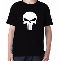 Camiseta Infantil Justiceiro The Punisher Camiseta Caveira