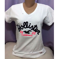 Kit C/ 5 Camisetas T-shirts Femininas Hollister R$ 115,00