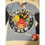 Camiseta Manga Longa Angry Birds Tam.12