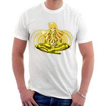 Camiseta Cavaleiros Do Zodíaco - Virgem - Shaka - Ouro