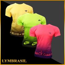 Kit C/10 Camisetas Multimarcas R$ 127,90 Cada Unid. R$ 12,79