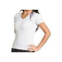 Camiseta Baby Look Branca Lisa 100% Algodão-varejo\atacado