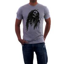 Camiseta Bob Marley (caveira)