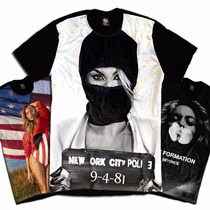Camiseta Personalizada Swag Face Rosto Beyonce