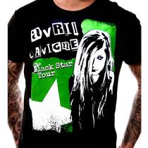 Camiseta Avril Lavigne Estampa Em Serigrafia