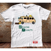 Camiseta Masculina Charlie Brown Snoopy Breaking Bad Sátira