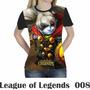 Camiseta Blusa Games League Of Legends Feminina Lol 008