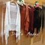 Colete Kimono Em Tricot Longo Com Franja / Trico
