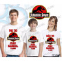 Camiseta Jurassic Park Personalizada Kit Aniversario Com 3