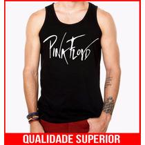 Camiseta Regata Masculina Pink Floyd Bandas De Rock