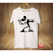 Camiseta Masculina Banksy Sátira Divertida