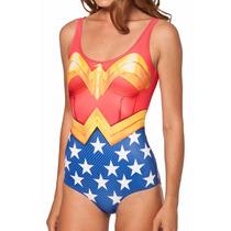 Body Mulher Maravilha Maiô Wonder Woman Cosplay Fantasia