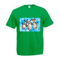 Camiseta Infantil Colorida Os Pinguins De Madagascar