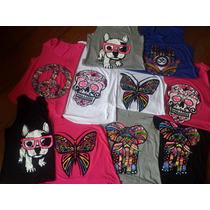 Kit 5 Regatas Camiseta Feminina Diversa Academia Cachorro H