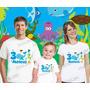 Lembrança De Aniversario Fundo Do Mar Kit Com 3 Camisetas