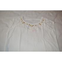 Blusa Branca Feminina Com Bordado