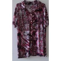 Lote Com 10 Blusas Malha Fria Plus Size - Atacado/revender