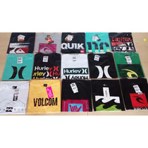Kit 10 Camisetas Quilsilver Hurley Hanglosse Bilabong Volcom